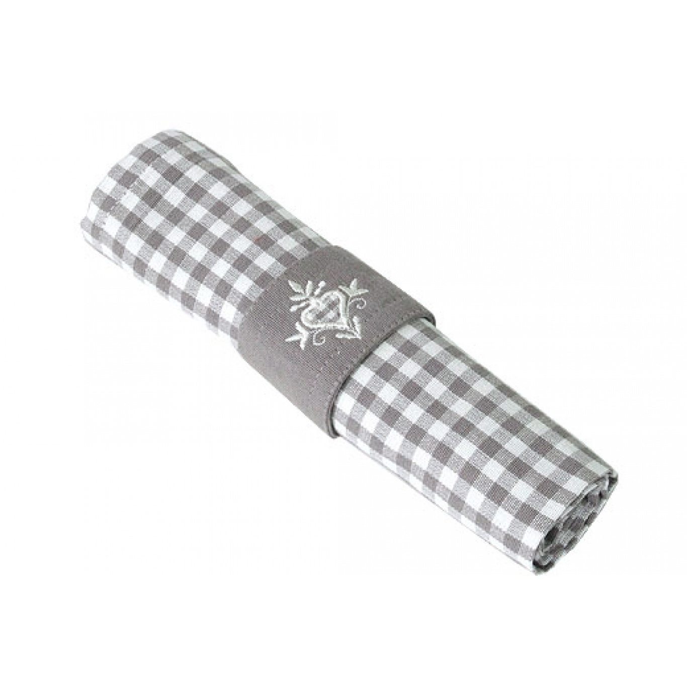 Image of Auberge Cobble Check Napkins set of 4