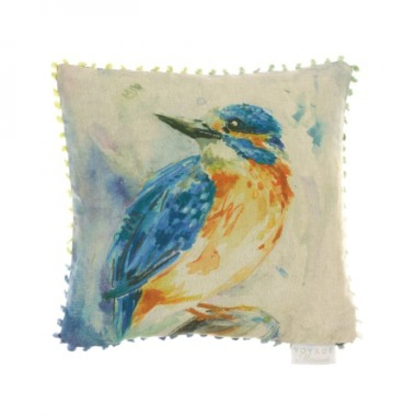 Image of Voyage Darting Kingfisher Cushion