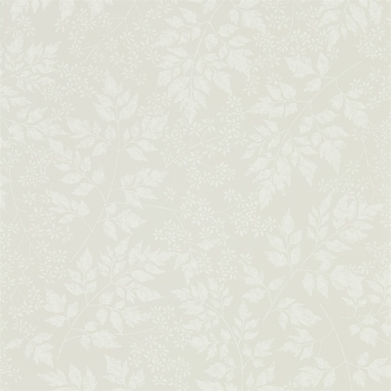 Image of Sanderson Home Spring Leaves Flint Wallpaper 216371