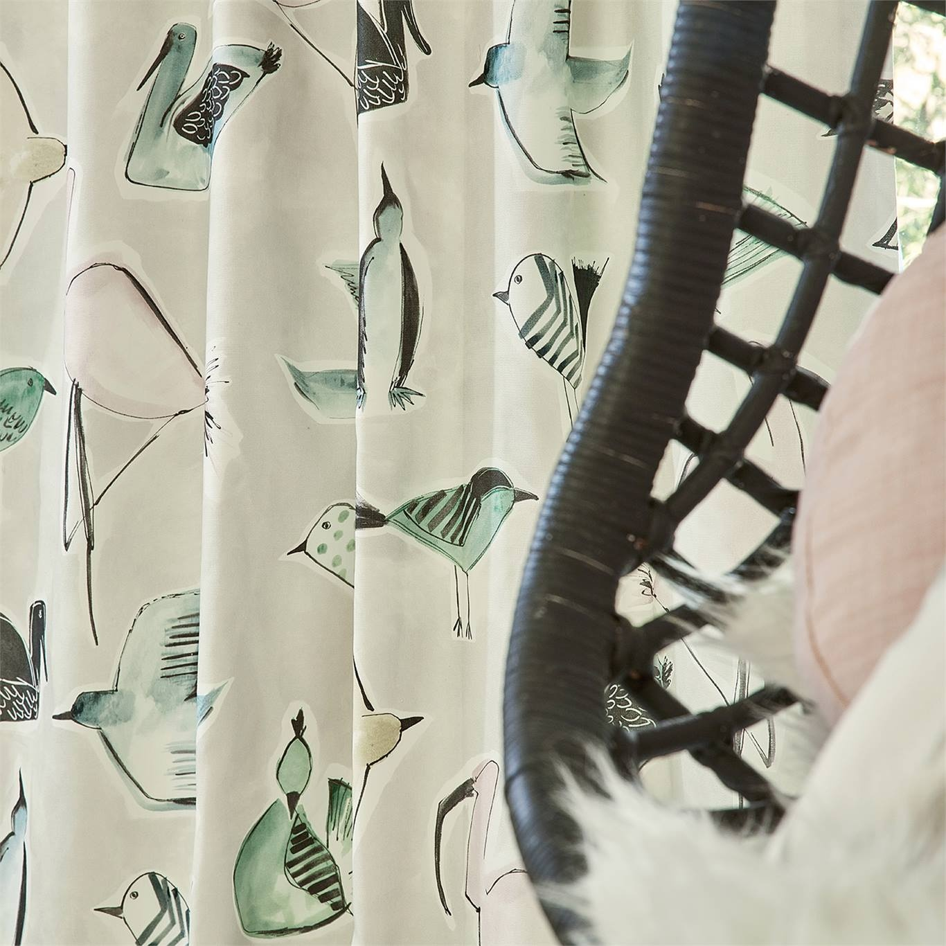 Scion Menagerie Blush/Mint Fabric 120784