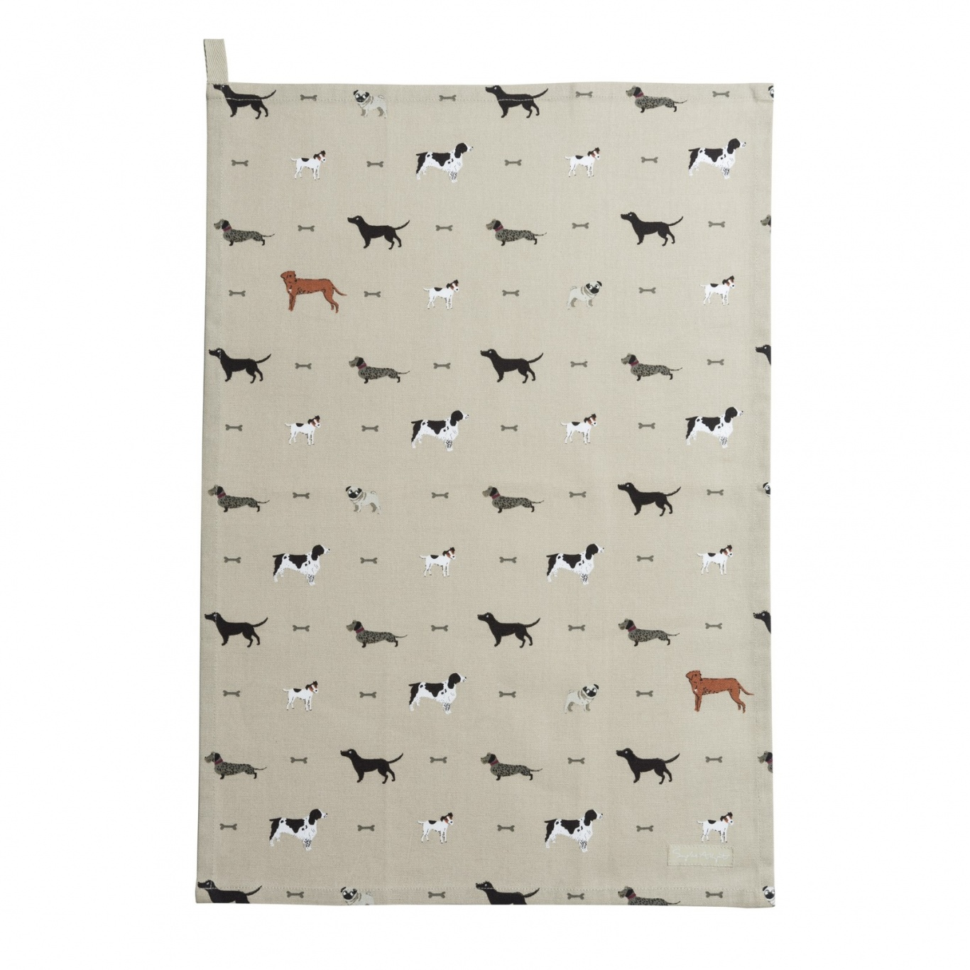 Image of Sophie Allport Woof Tea Towel