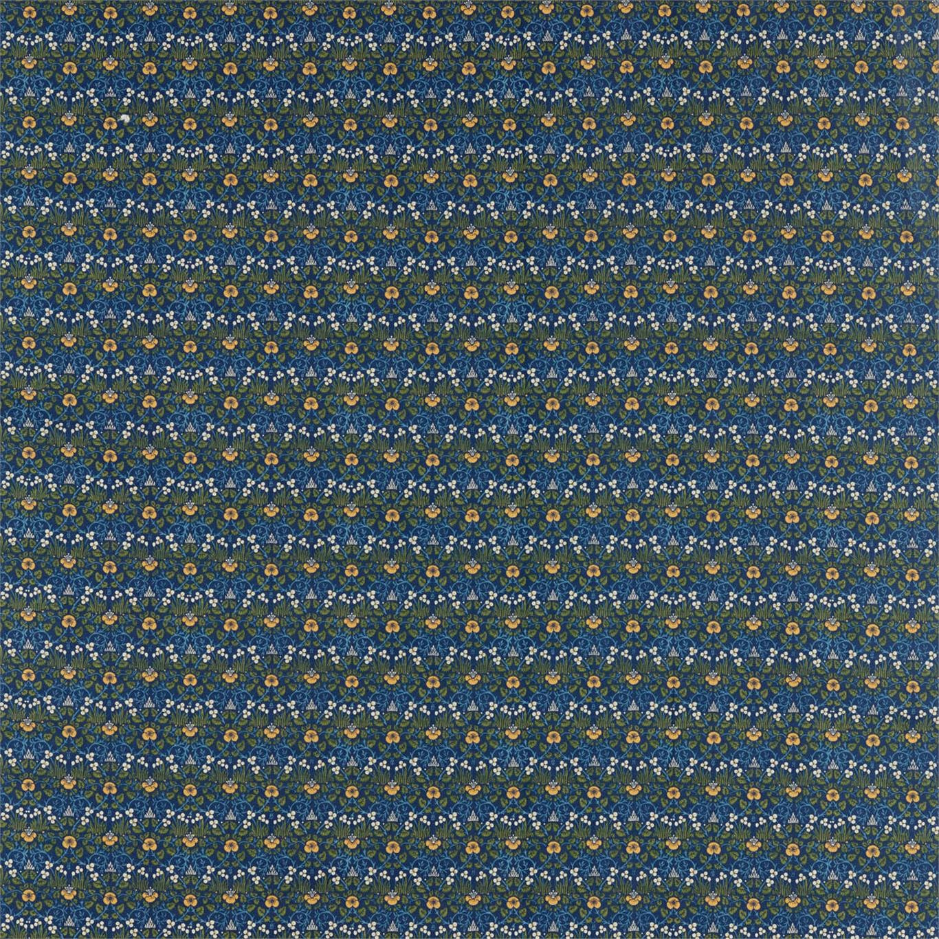 Image of Morris & Co Eye Bright Indigo Fabric 226597
