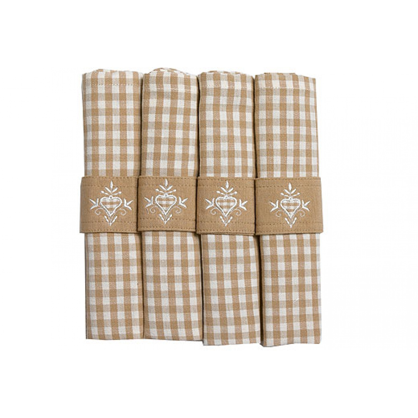 Image of Auberge Biscuit Check Napkins set of 4