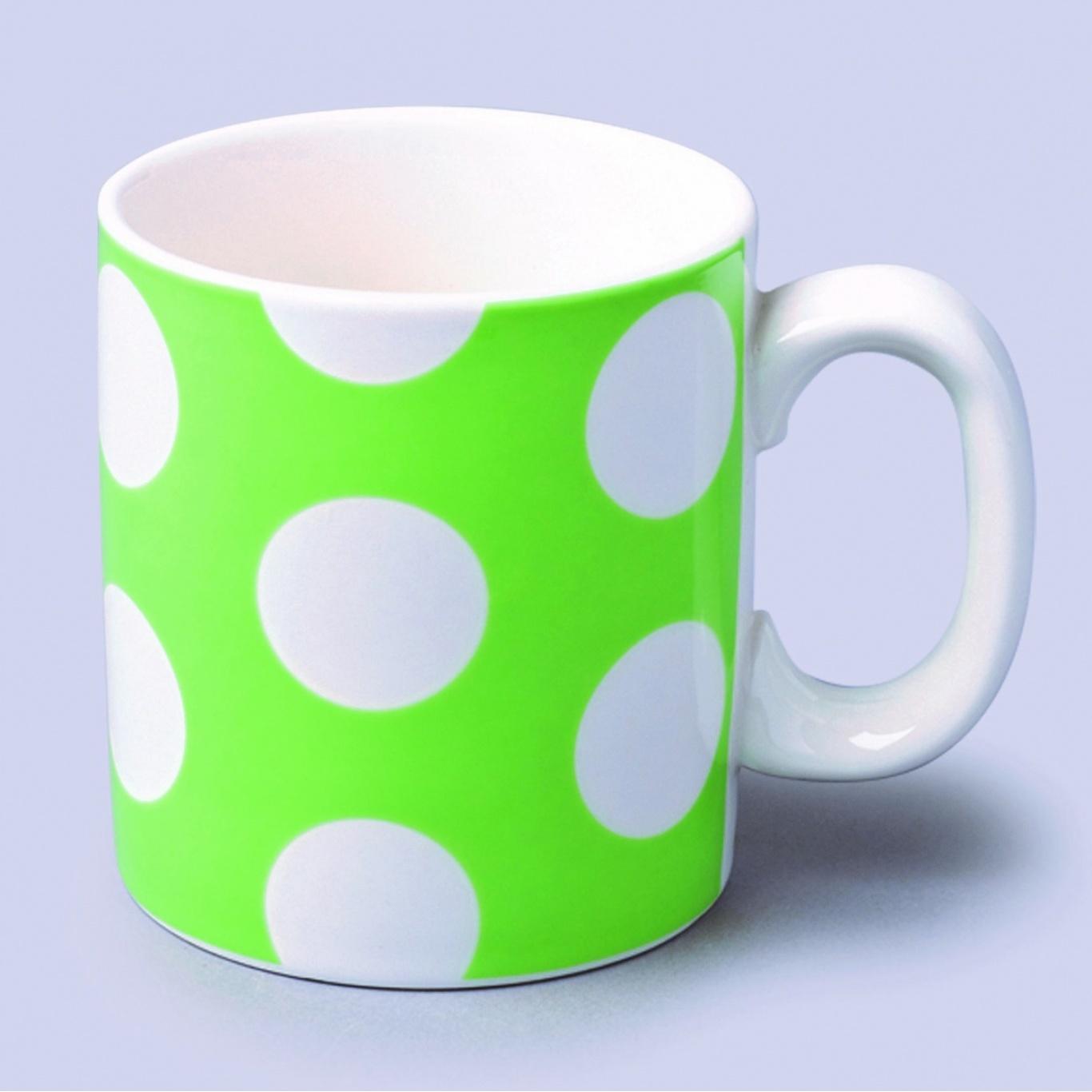 Image of Large Mug Green Spot 0.7 pint