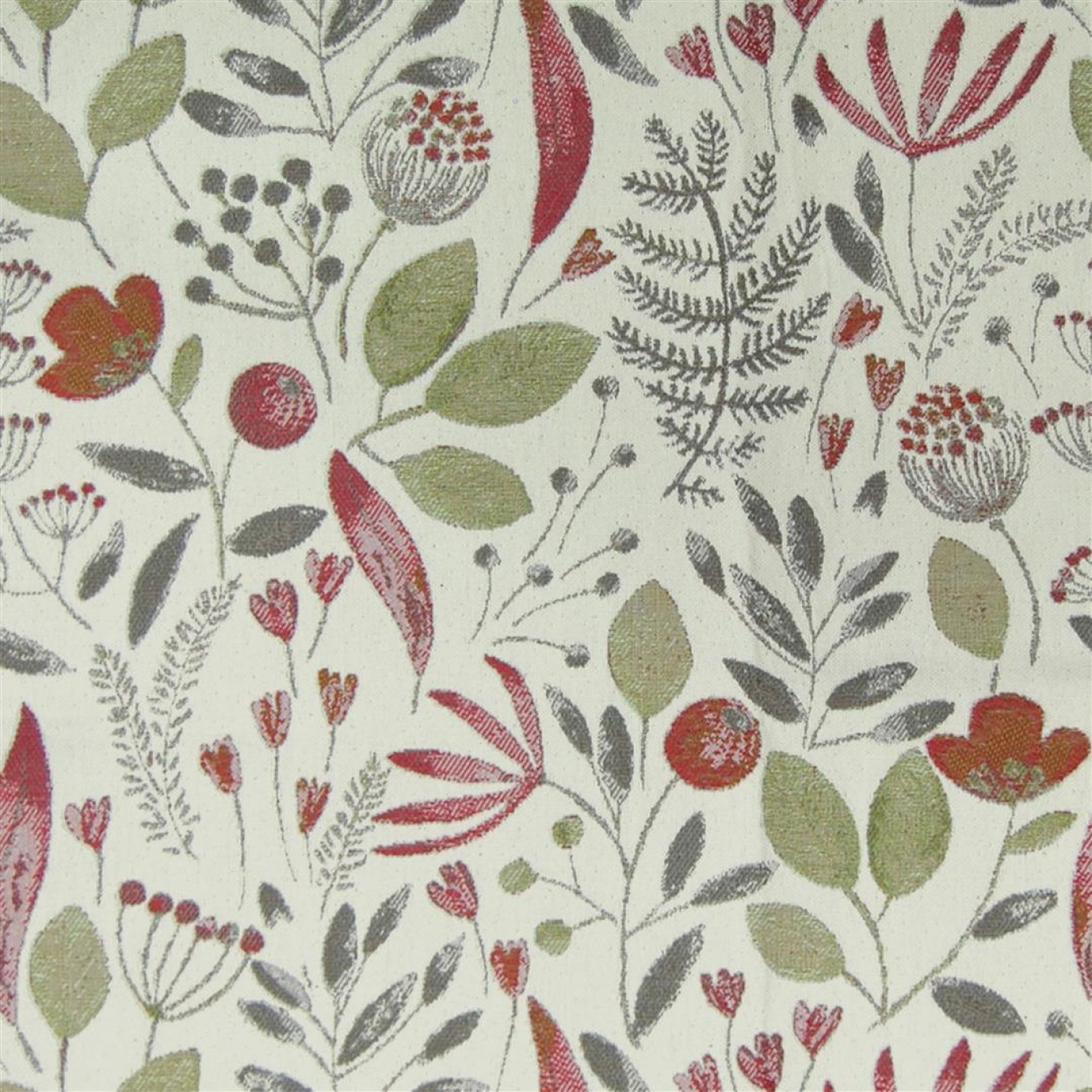 Image of Voyage Winslow Cream Russett Fabric 1.7m Remnant