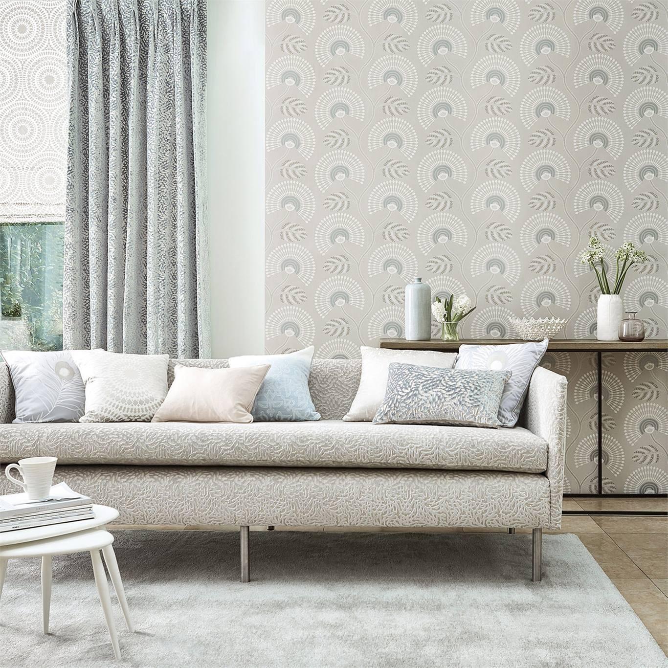 Harlequin Louella Seaglass/Pearl Wallpaper 111910