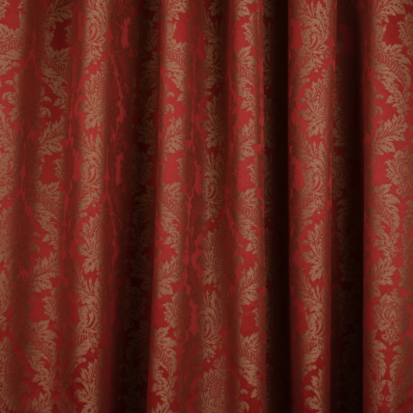 Gordon Smith Damask Red Fabric