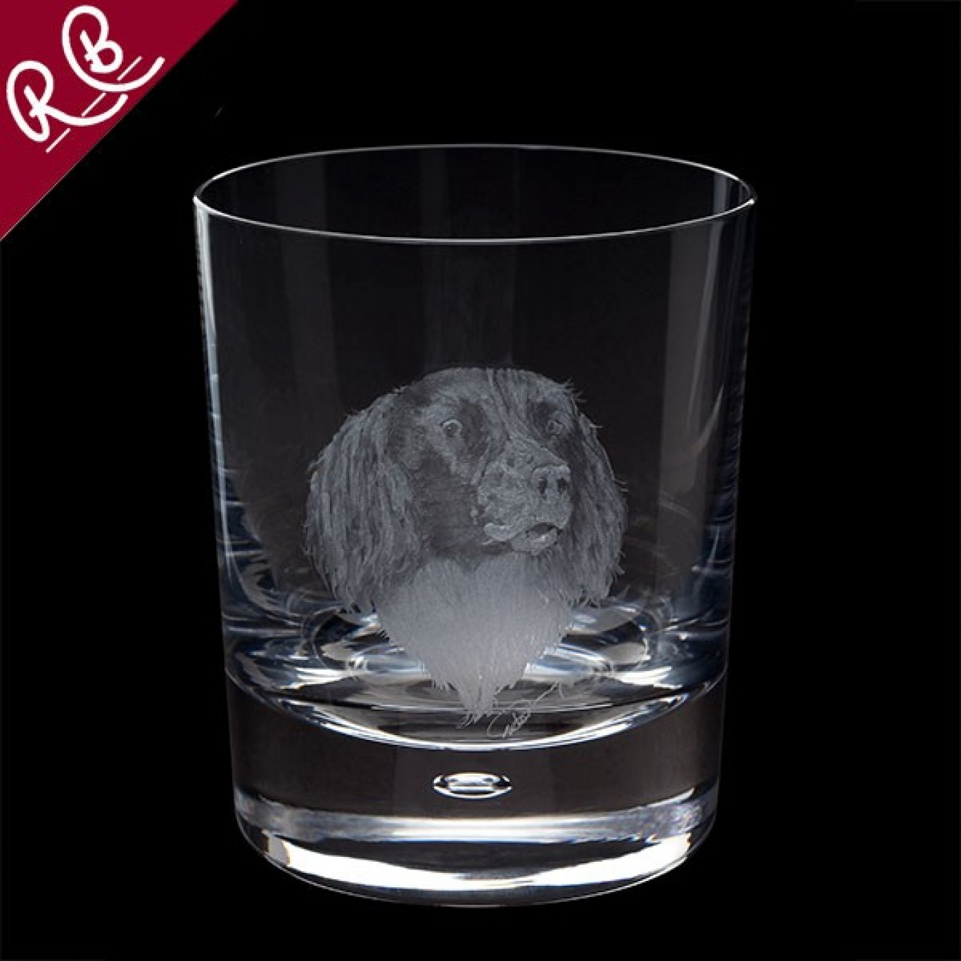Image of Royal Brierley Engraved Springer Spaniel Tumbler
