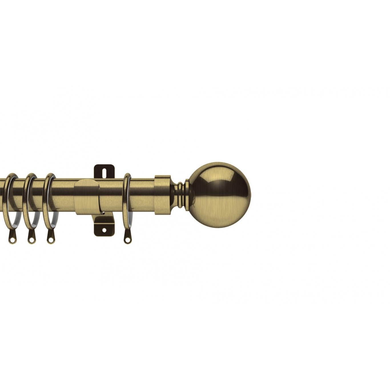 Image of Swish Belgravia 35mm Antique Brass Metal Pole