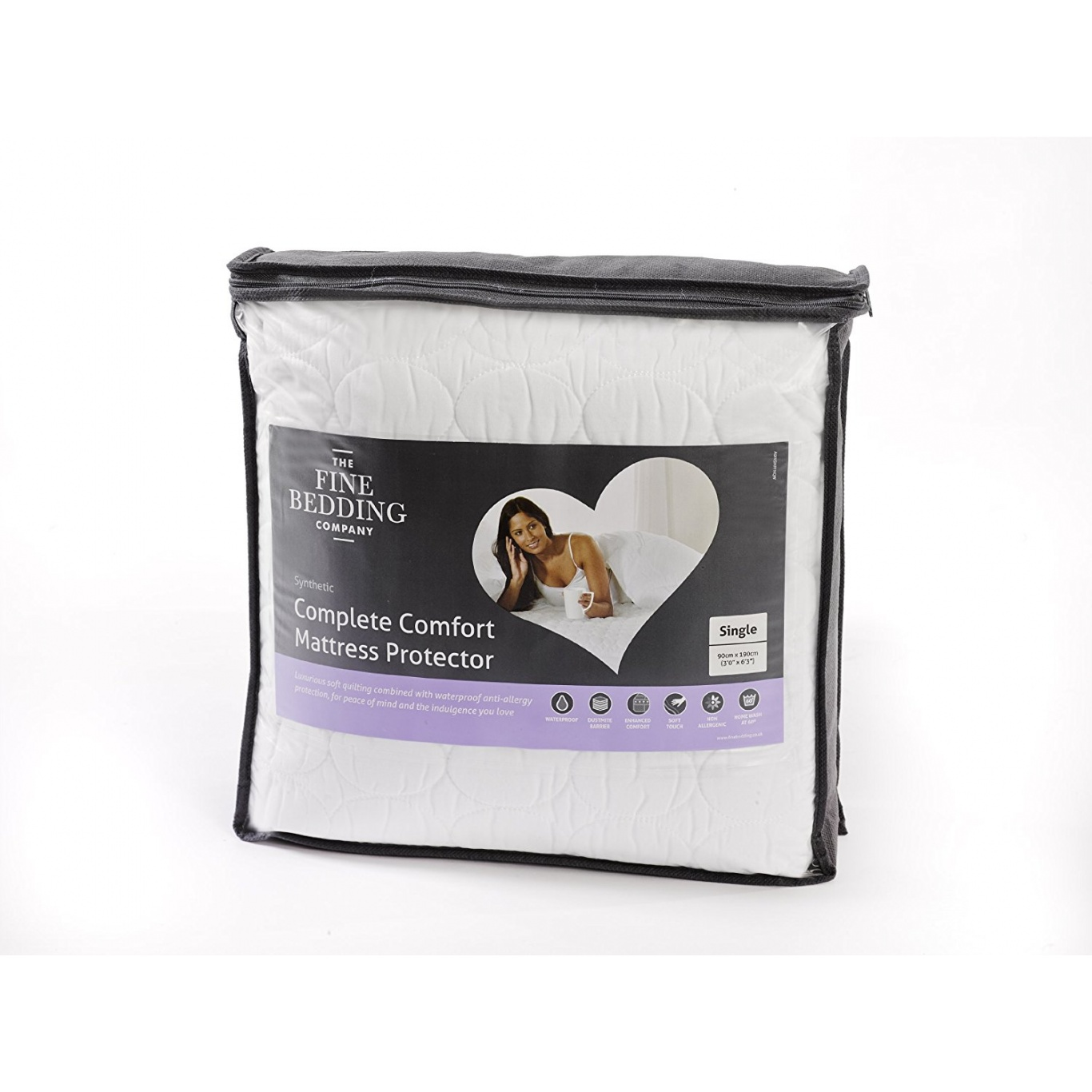 Image of Quilted Luxury Waterproof Single Mattress Protector