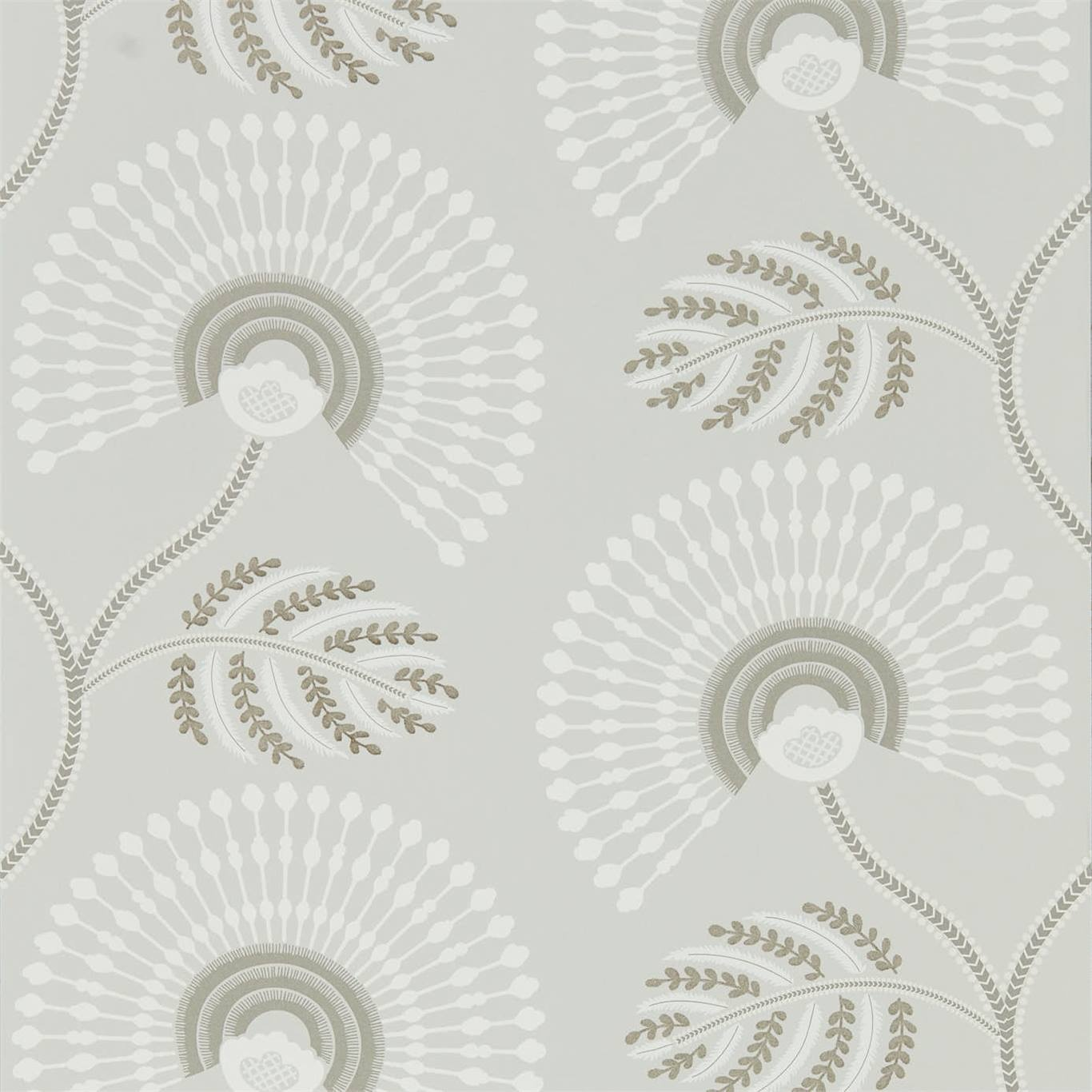 Image of Harlequin Louella Linen/Silver Wallpaper 111912