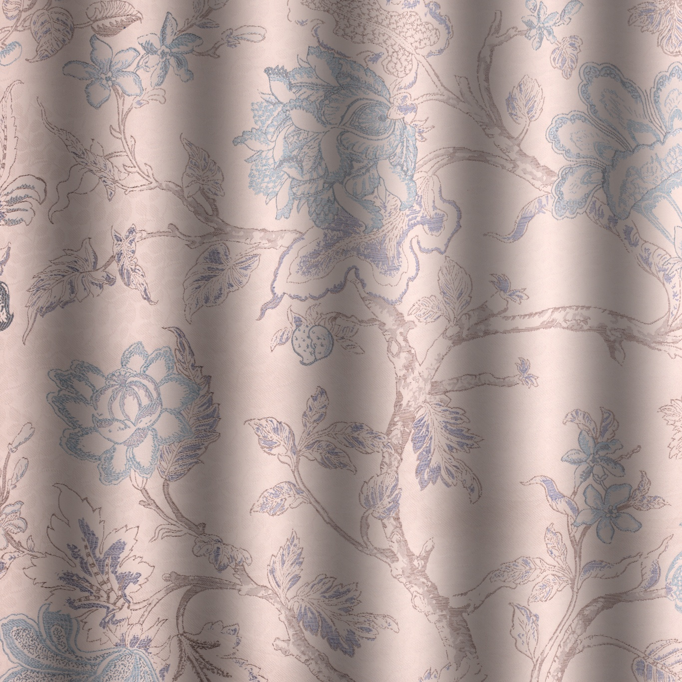 Voyage Hatfield Duck Egg Curtain Fabric