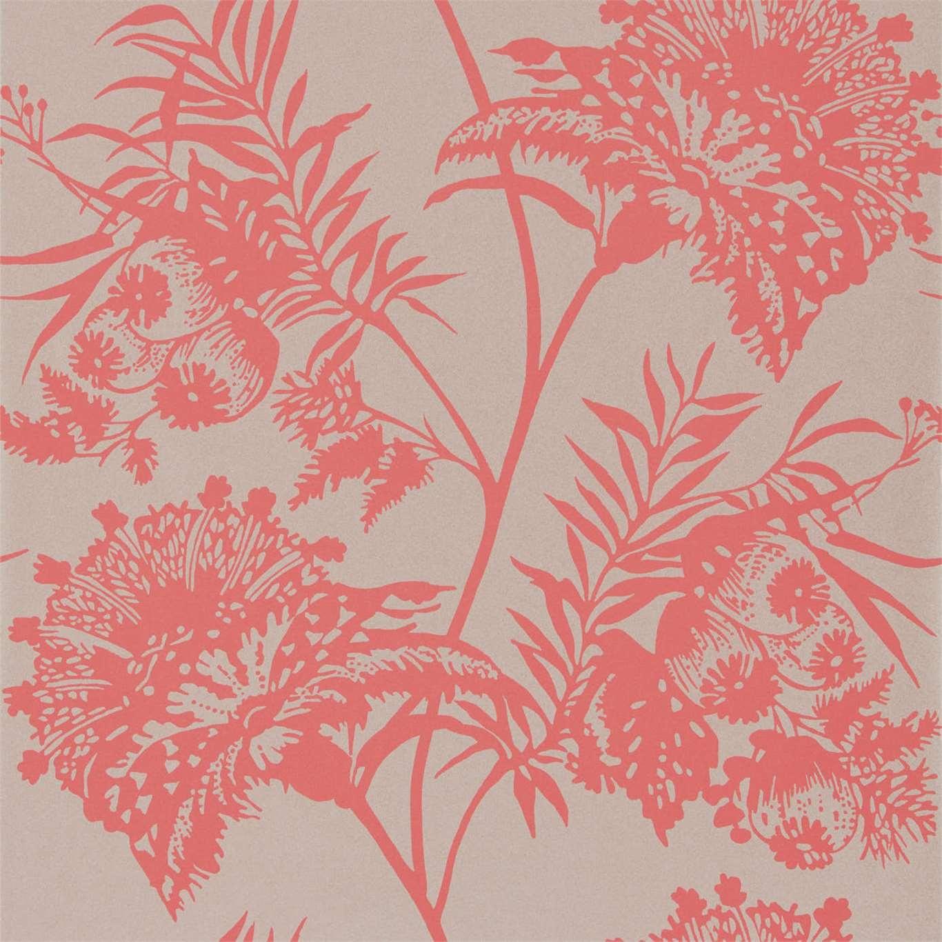 Image of Harlequin Bavero Coral Wallpaper 111766