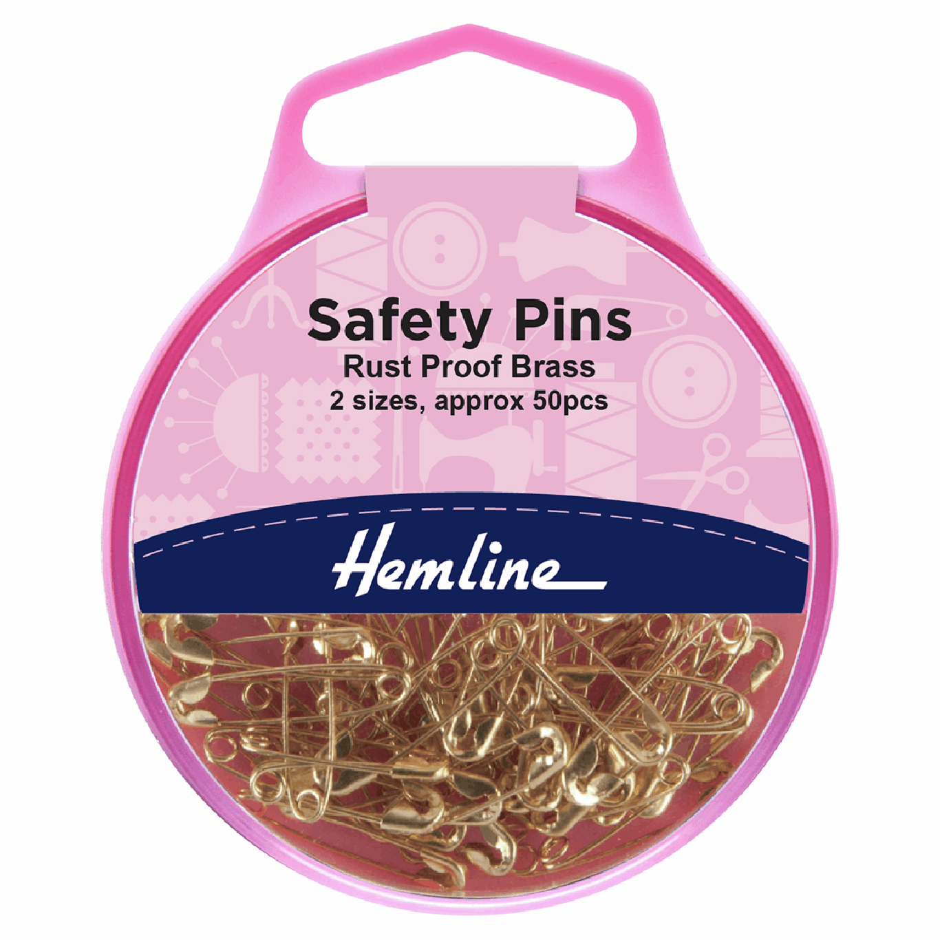 Image of Brass Safety Pins | 19mm/23mm | 50 Pieces