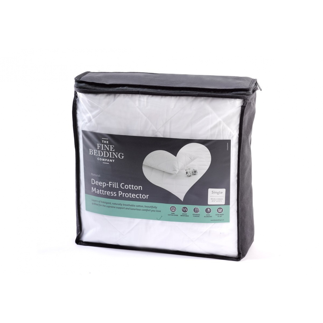 Image of Deep Fill Cotton Single Mattress Protector