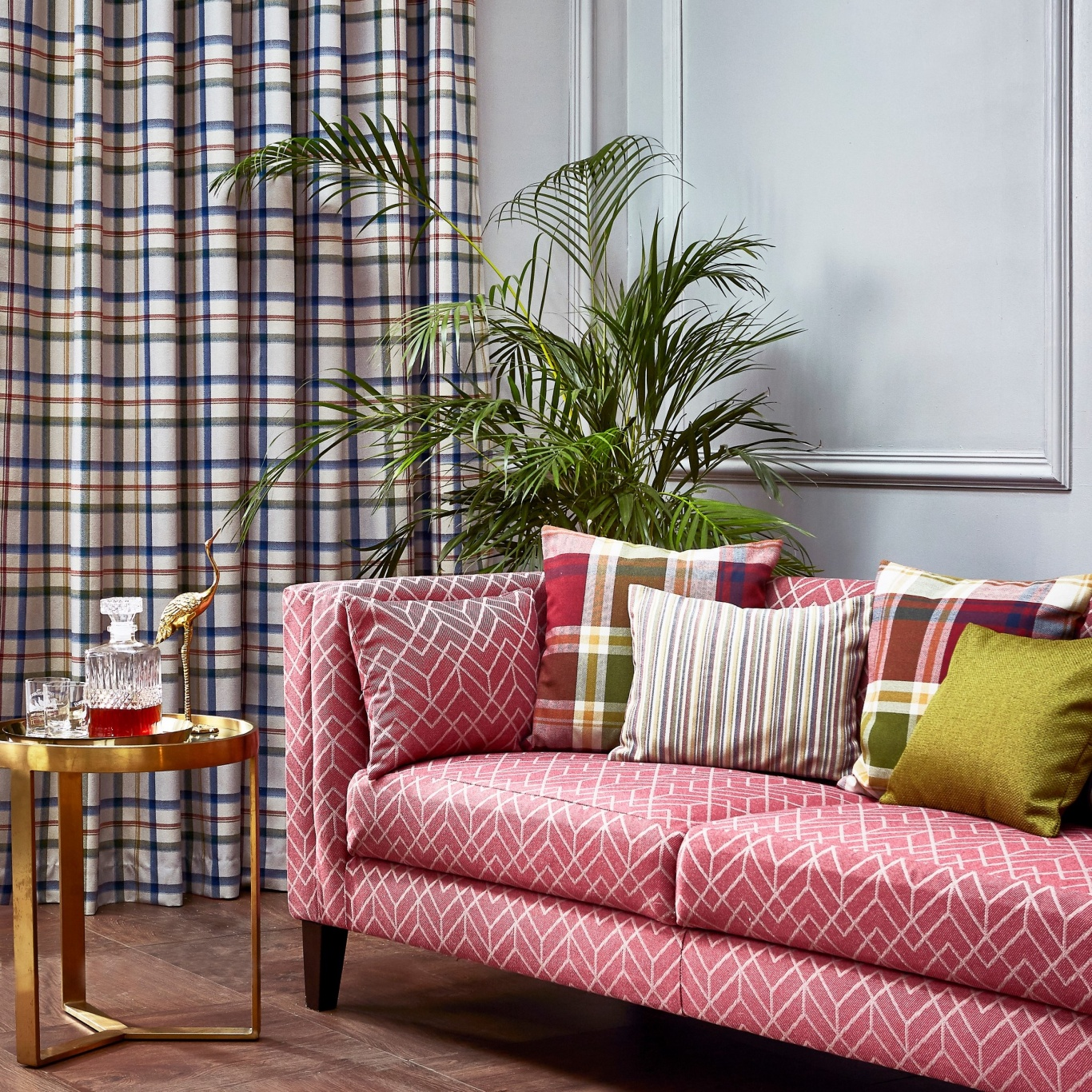 Prestigious Hatfield Cranberry FR Fabric 2017/316
