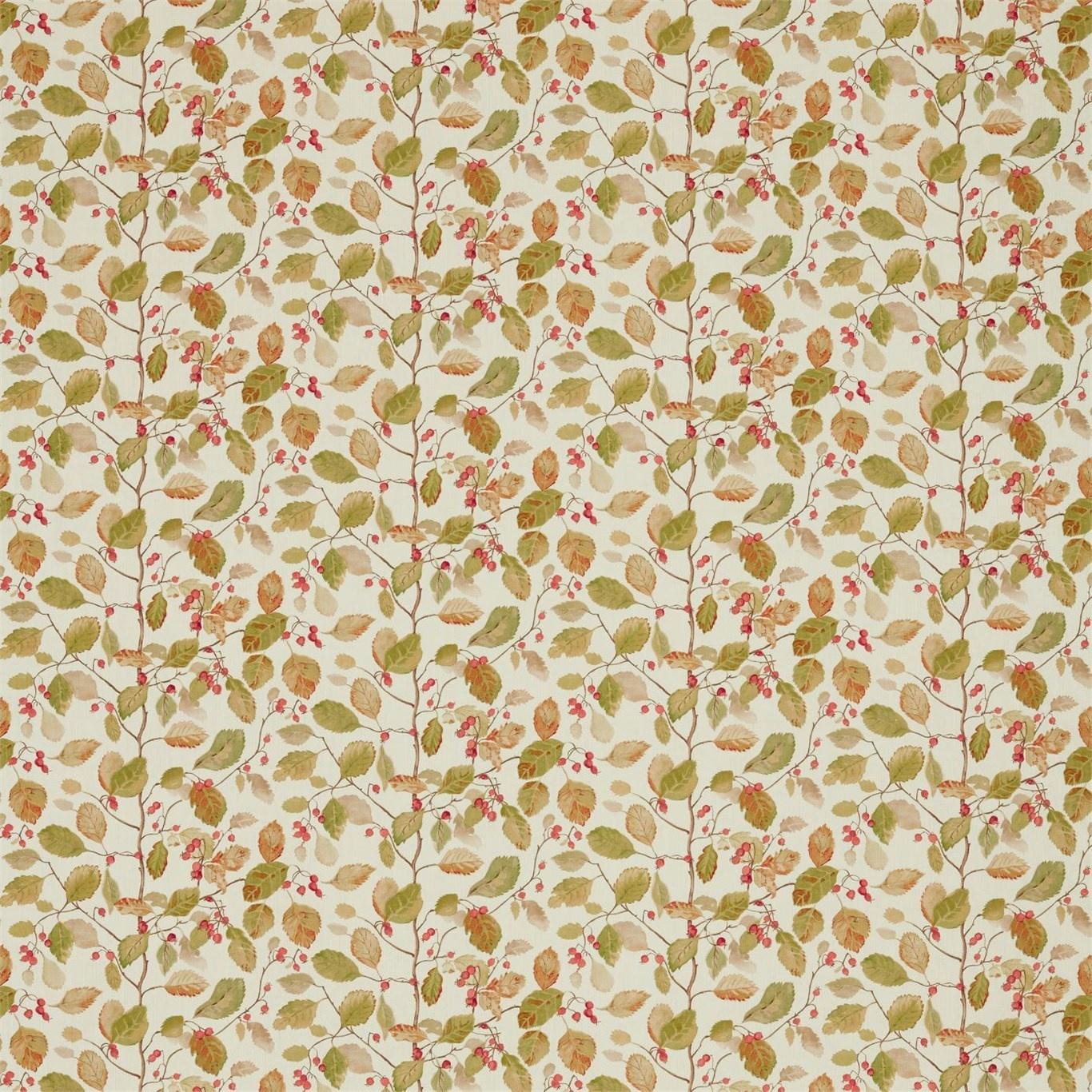 Image of Sanderson Woodland Berries Rosehip/Moss Fabric 225530