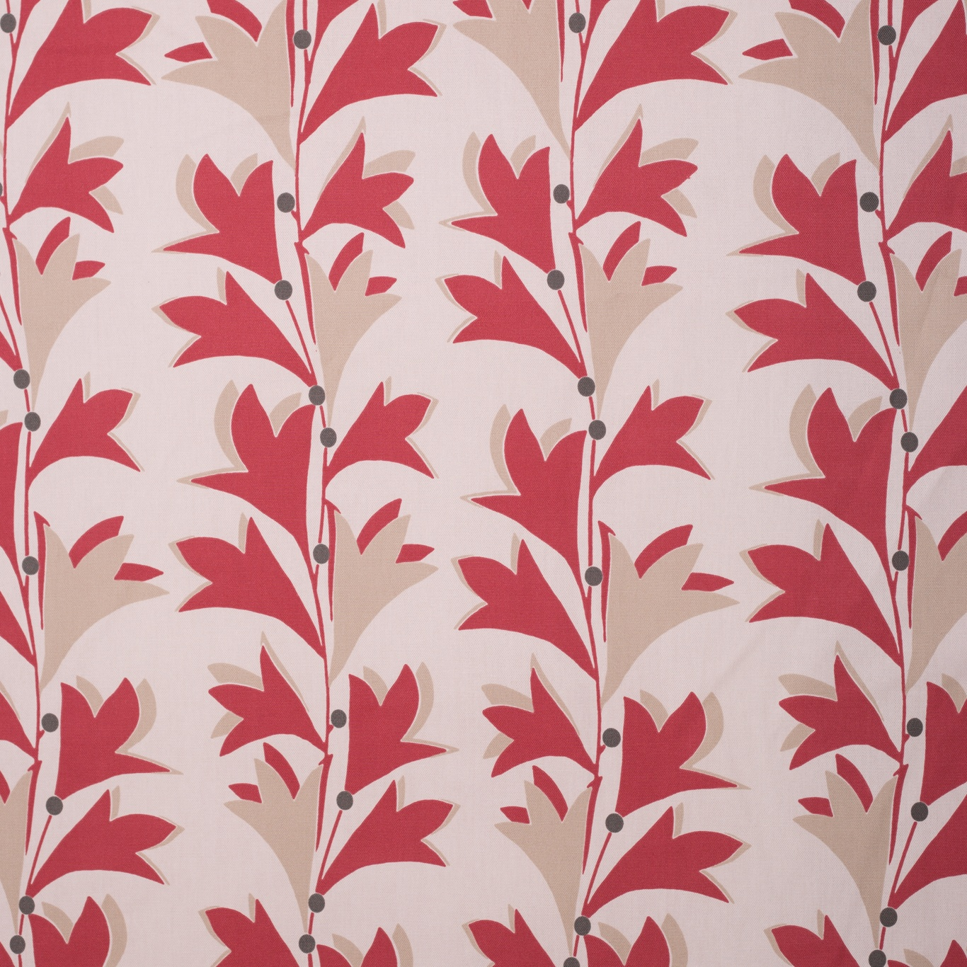 Image of Gordon Smith Scandi Crimson Curtain Fabric