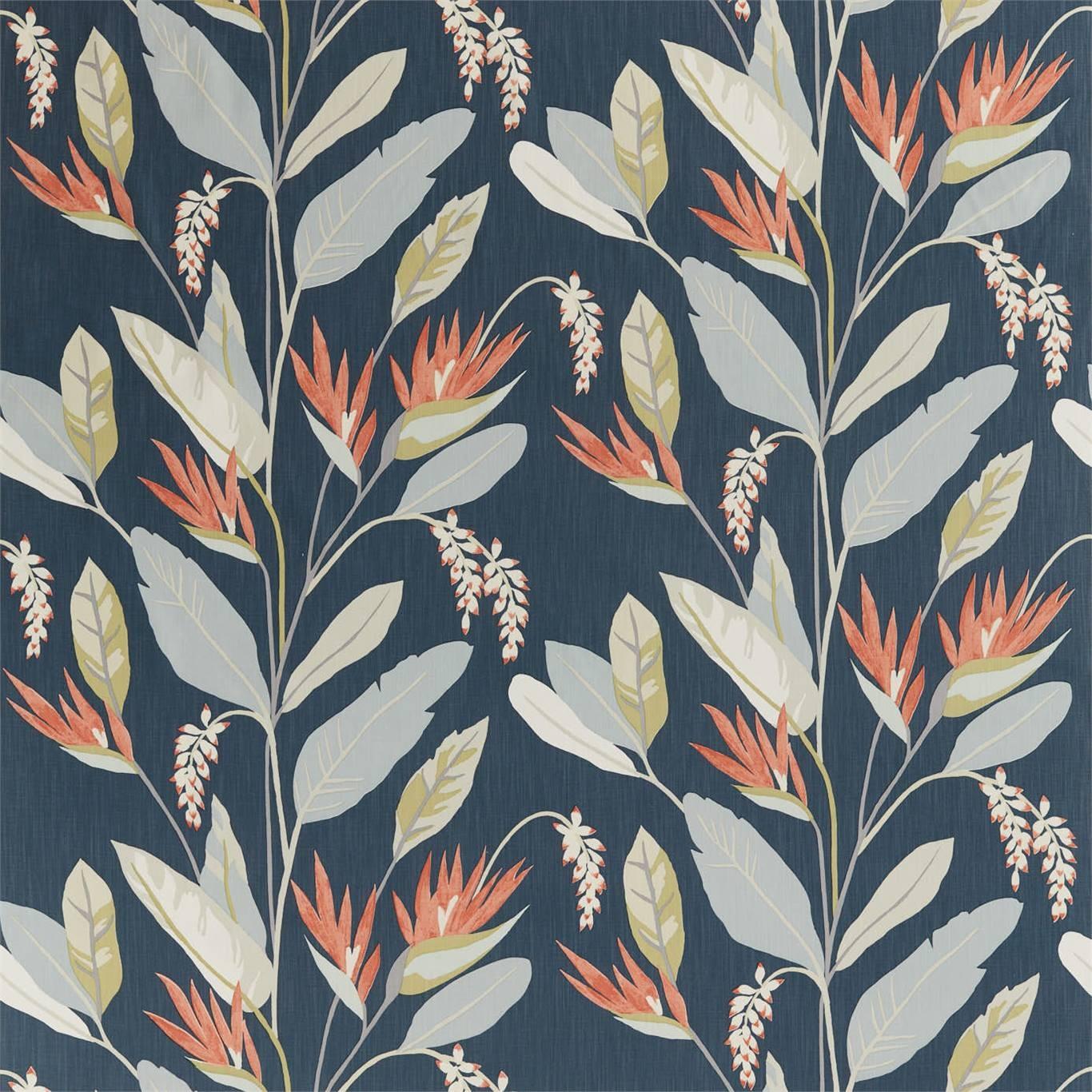 Image of Harlequin Llenya Ink/Coral/Pebble Curtain Fabric 120909