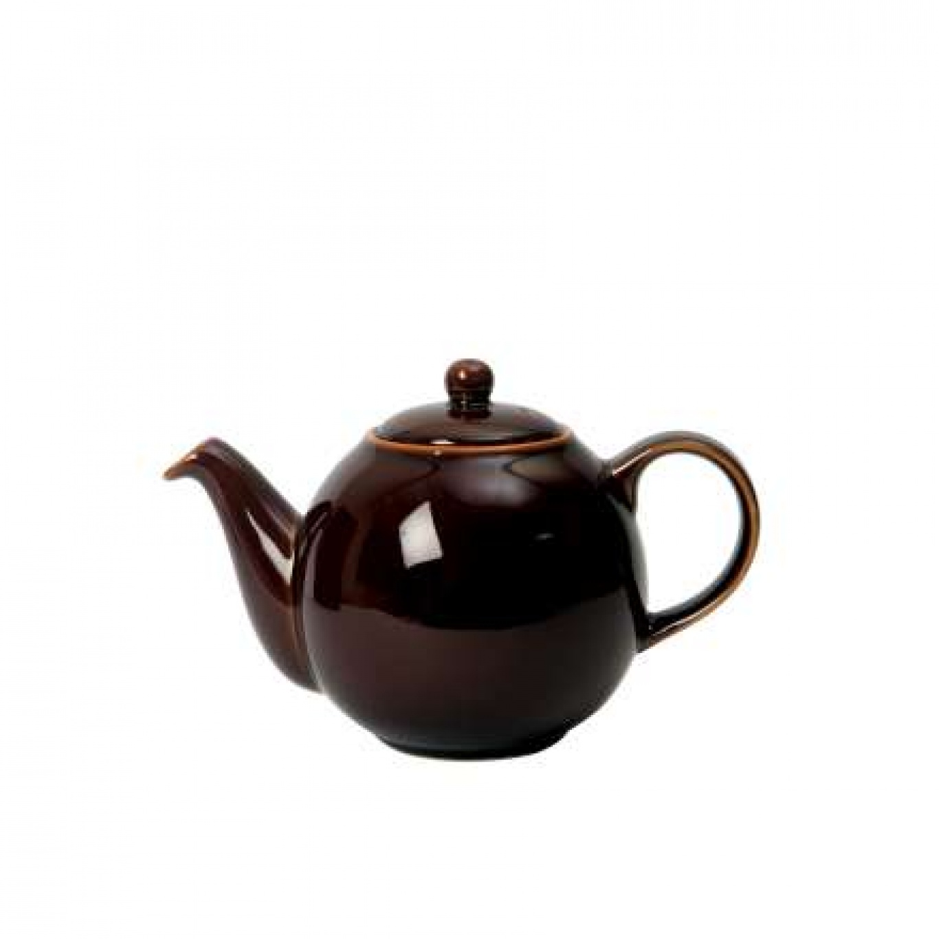 Image of Globe Tea Pot Brown