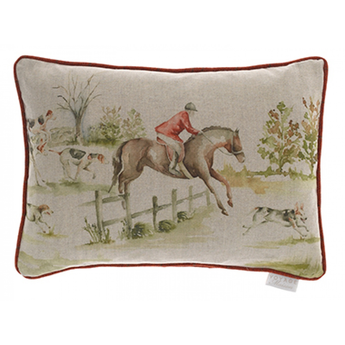 Image of Voyage Horse and Hound Linen Cushion