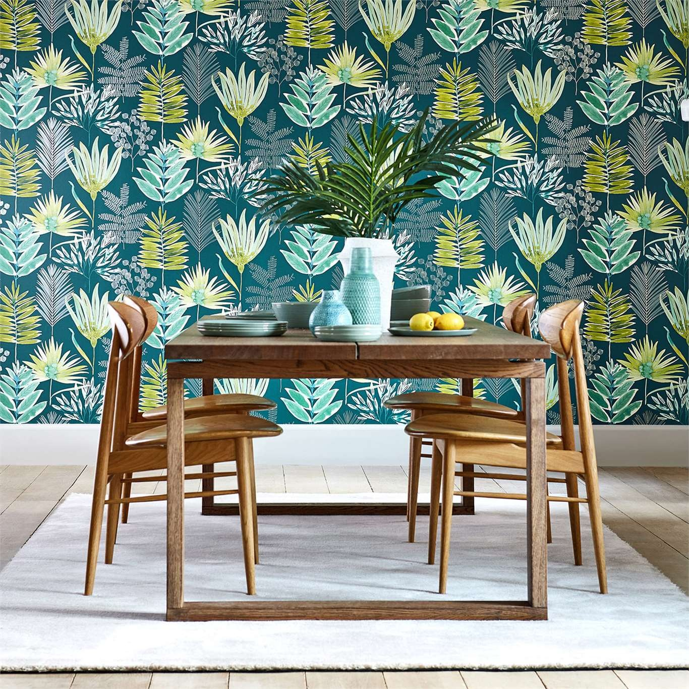 Harlequin Yasuni Emerald/Zest Wallpaper 111761