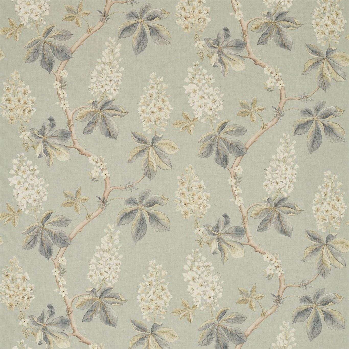 Image of Sanderson Chestnut Tree Grey Blue/Sage Fabric 225513