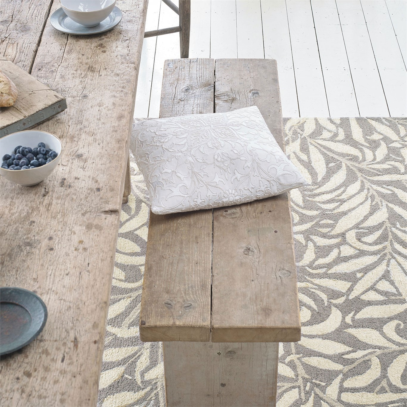 Morris & Co Willow Bough Ivory Rug 28309