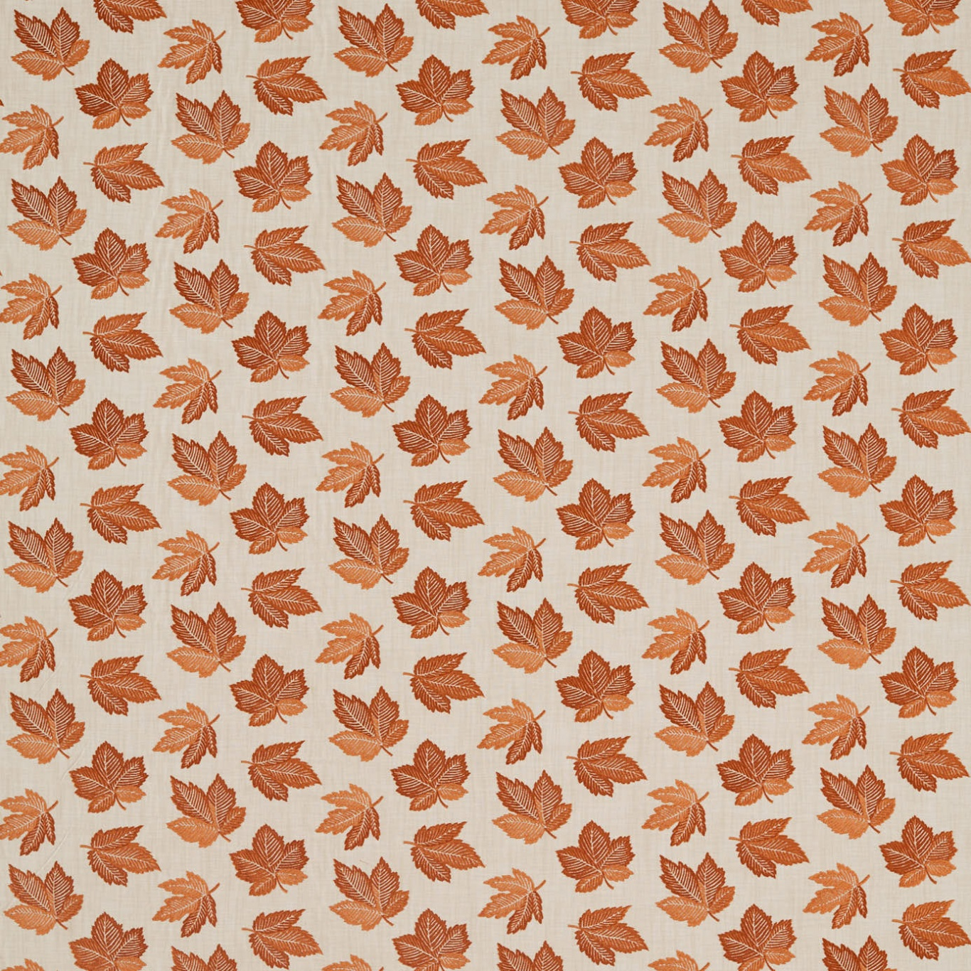 Image of Sanderson Flannery Russet Curtain Fabric 236728