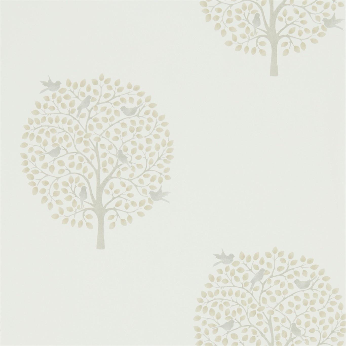 Image of Sanderson Home Bay Tree Linen/Dove Wallpaper 216362