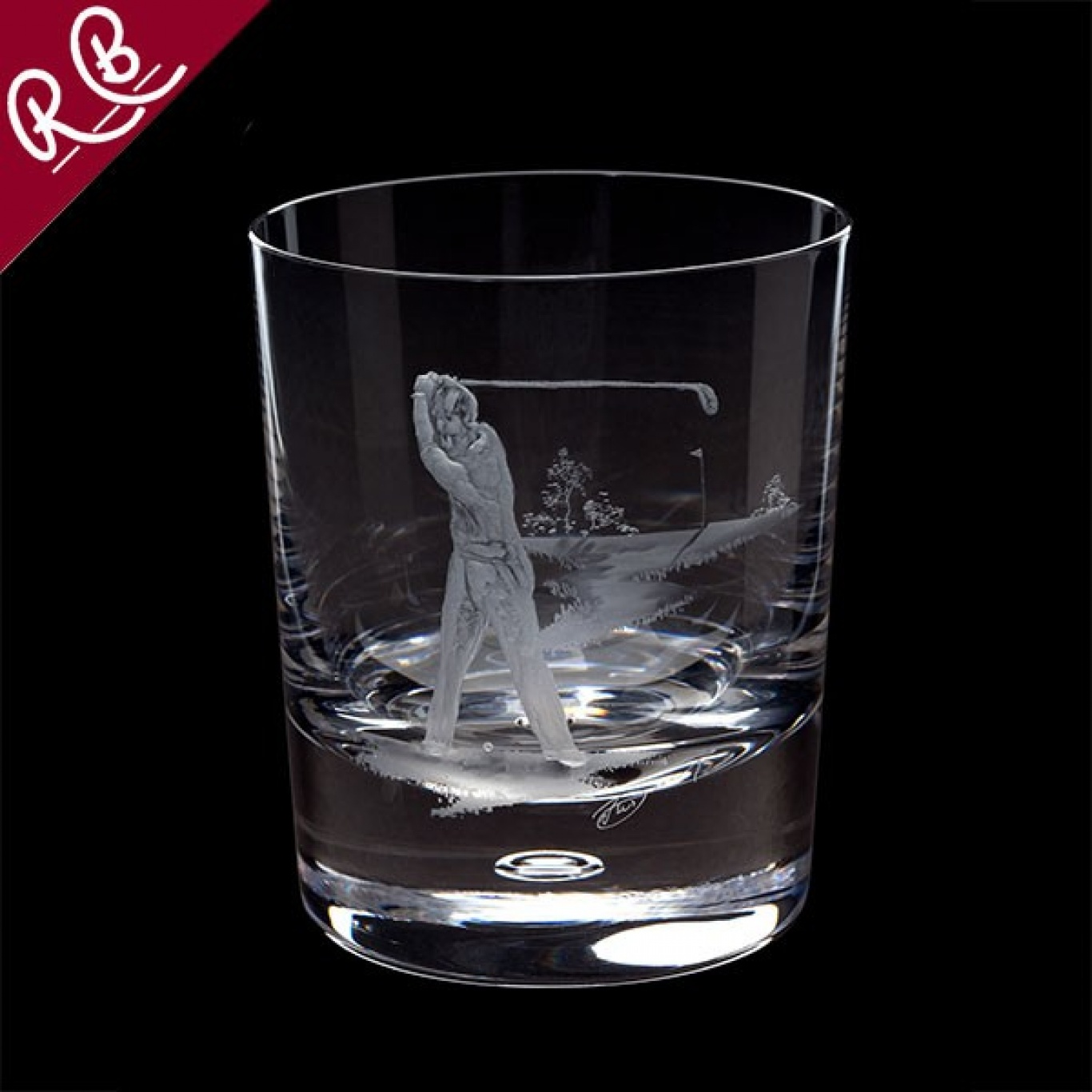 Image of Royal Brierley Engraved Golfer Tumbler