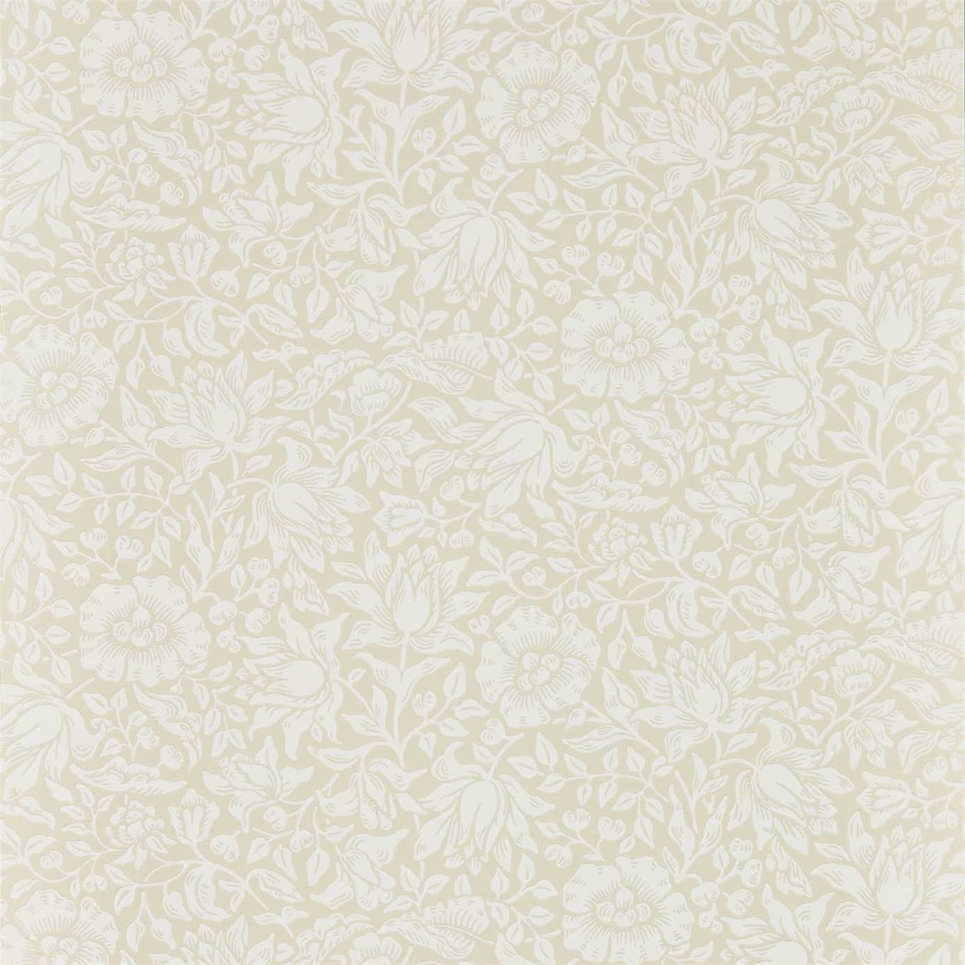 Image of Morris & Co Mallow Cream Ivory Wallpaper 216676