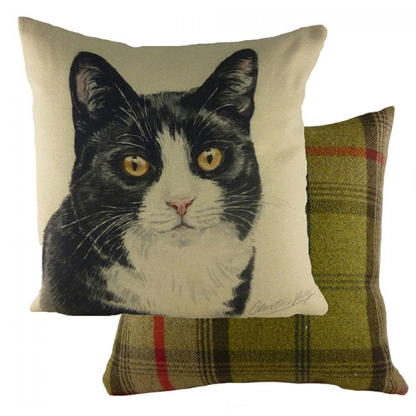 Image of Waggy Dogz Black & White Cat Cushion Cover