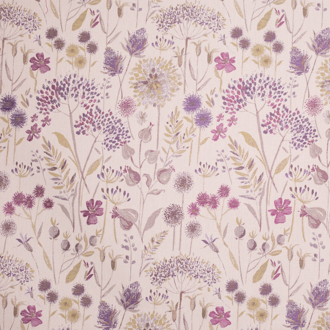 Image of Voyage Flora Cream Heather Curtain Fabric