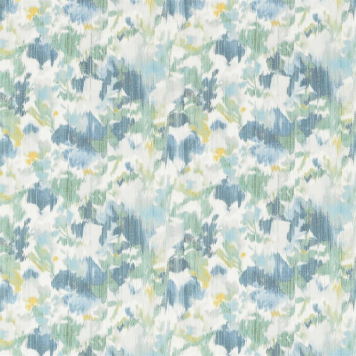 Image of Sanderson Poet's Garden Teal/Indigo Fabric 226756