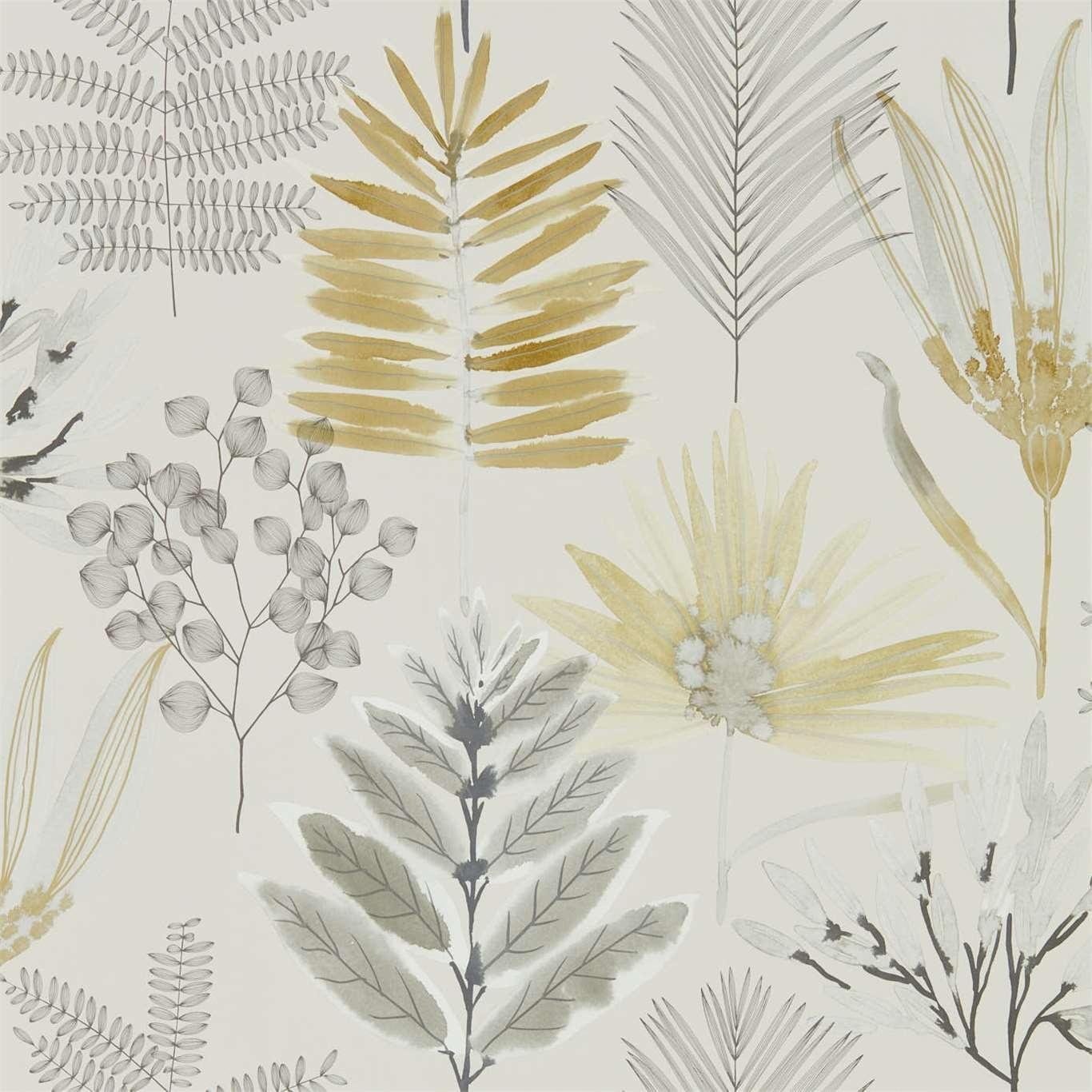 Image of Harlequin Yasuni Ochre/Linen Wallpaper 111762