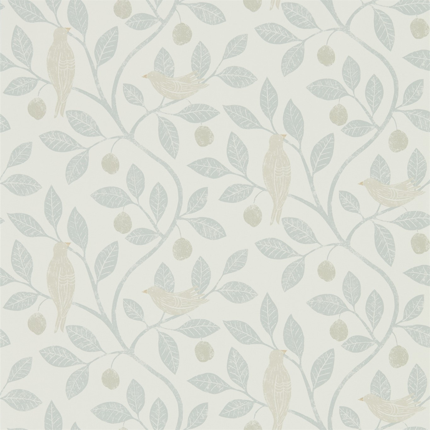 Image of Sanderson Home Damson Tree Mineral/Dove Wallpaper 216365