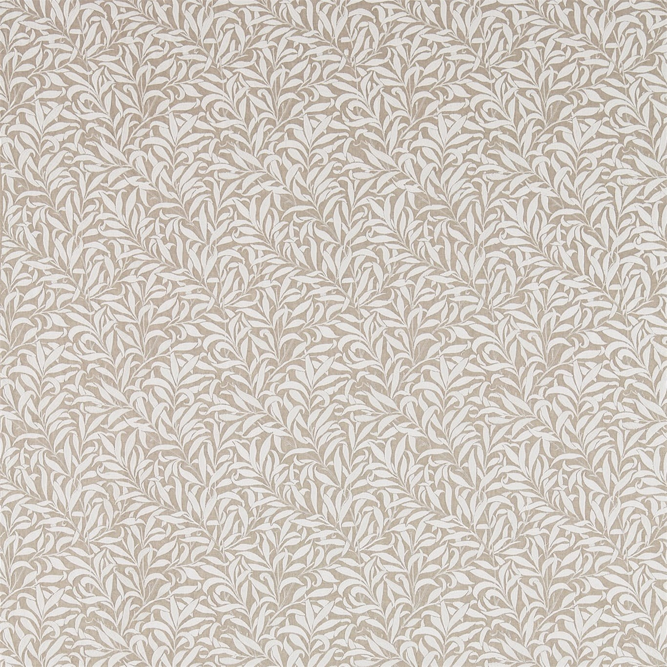 Image of Morris & Co Pure Willow Bough Embroidery Flax Fabric 236066