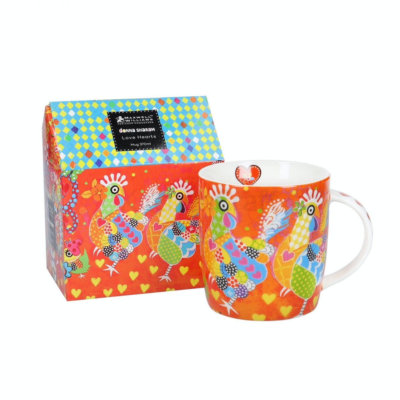 Image of Maxwell & Williams Chicken Dance Mug & Coaster Set