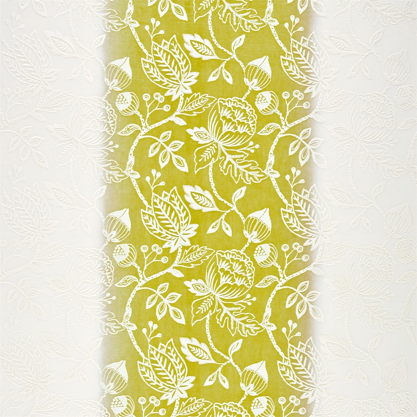 Image of Harlequin Colette Chartreuse Curtain Fabric 131569