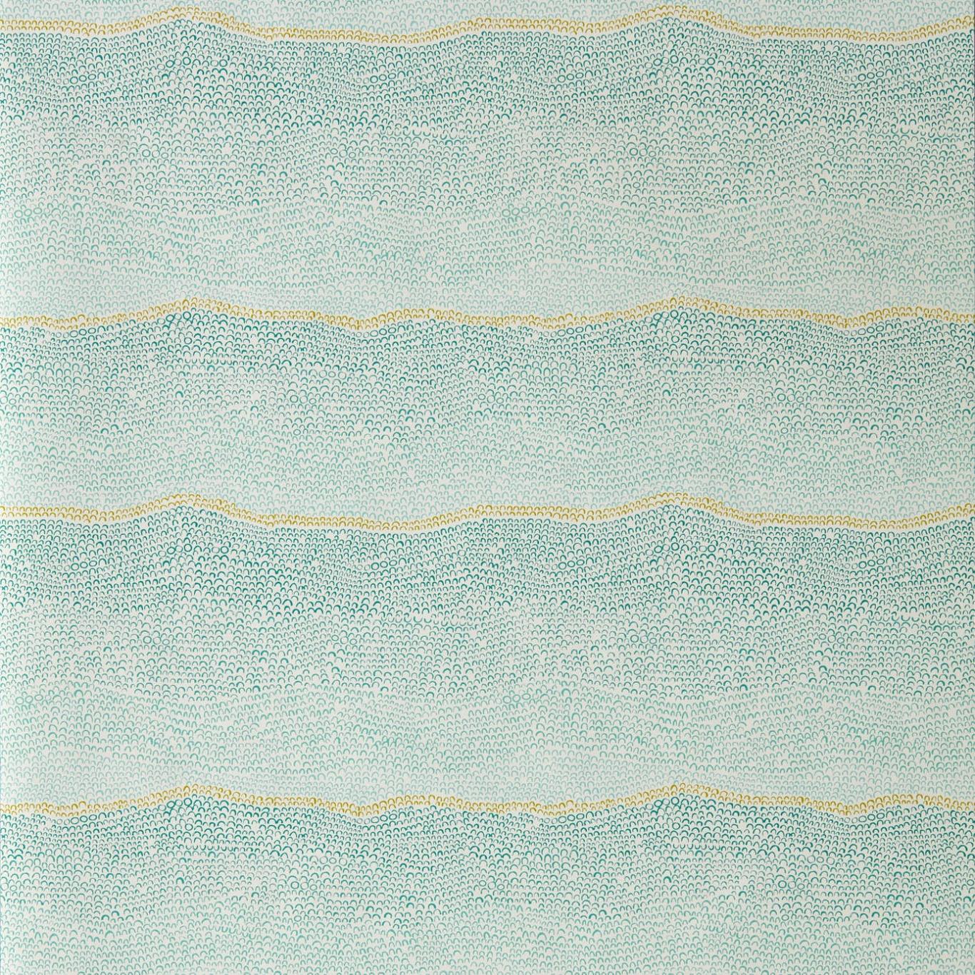 Image of Sanderson Home Ripley Aqua/Lichen Wallpaper 216585