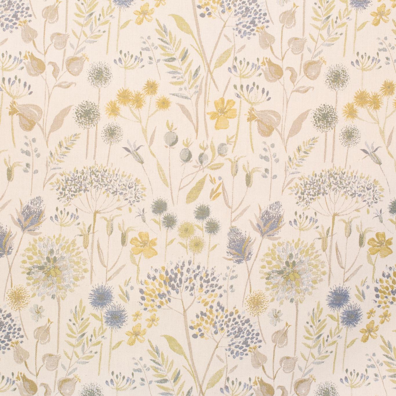Image of Voyage Flora Cream Duck Egg Curtain Fabric