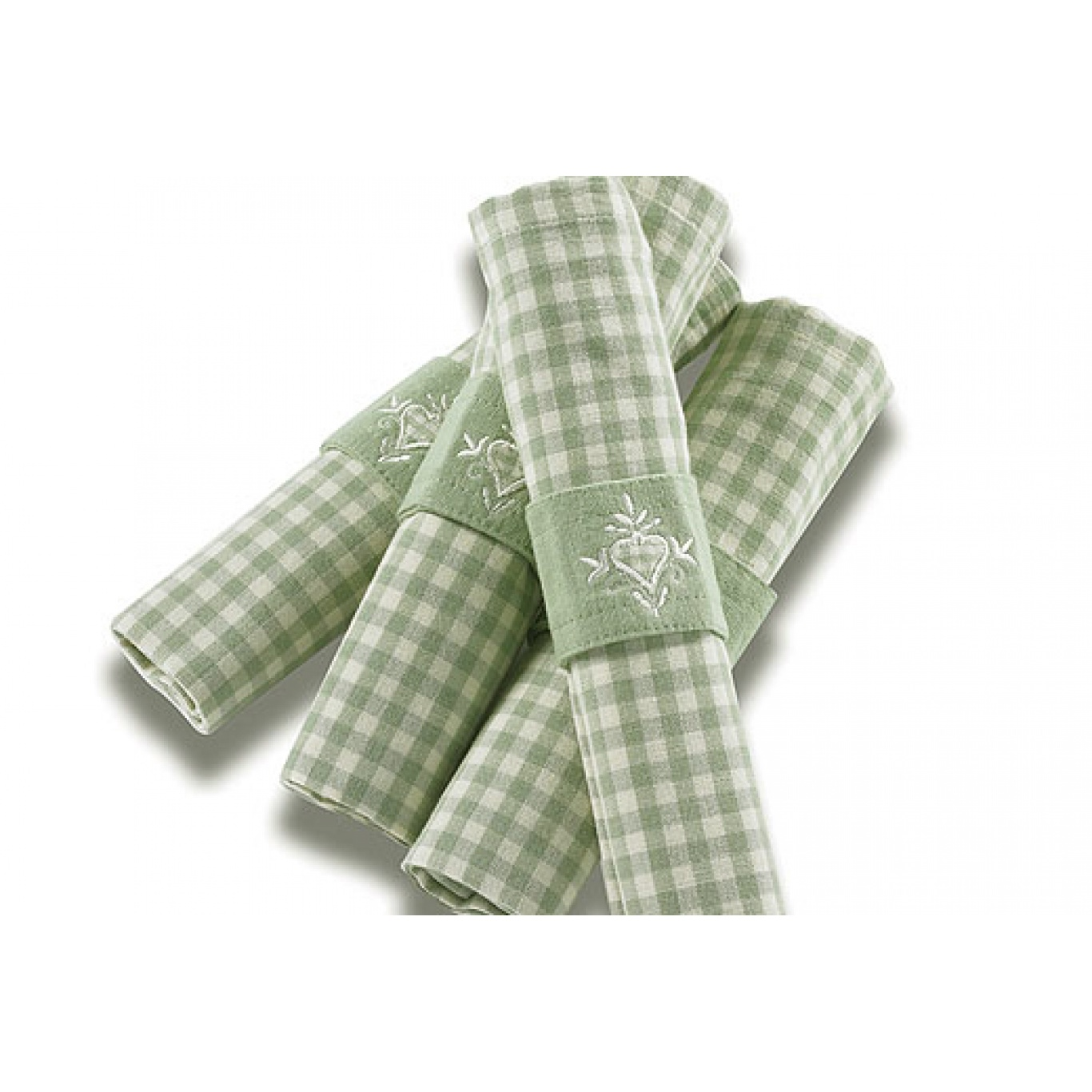 Auberge Duck Egg Green Check Napkins set of 4