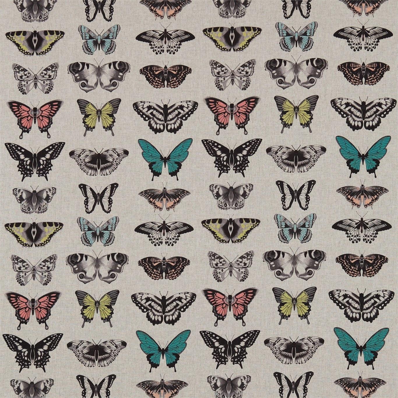 Image of Harlequin Papilio Peach/Lagoon/Zest Curtain Fabric 120342