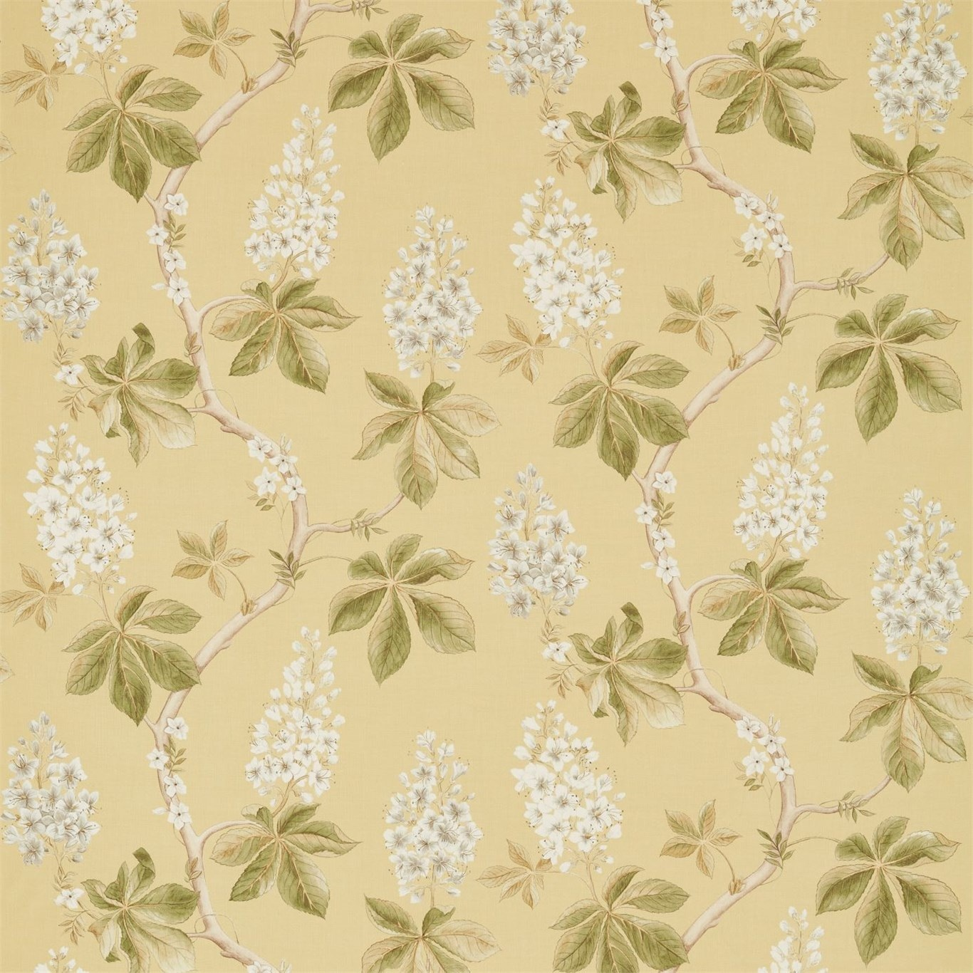 Image of Sanderson Chestnut Tree Seaspray/Peony Fabric 225516