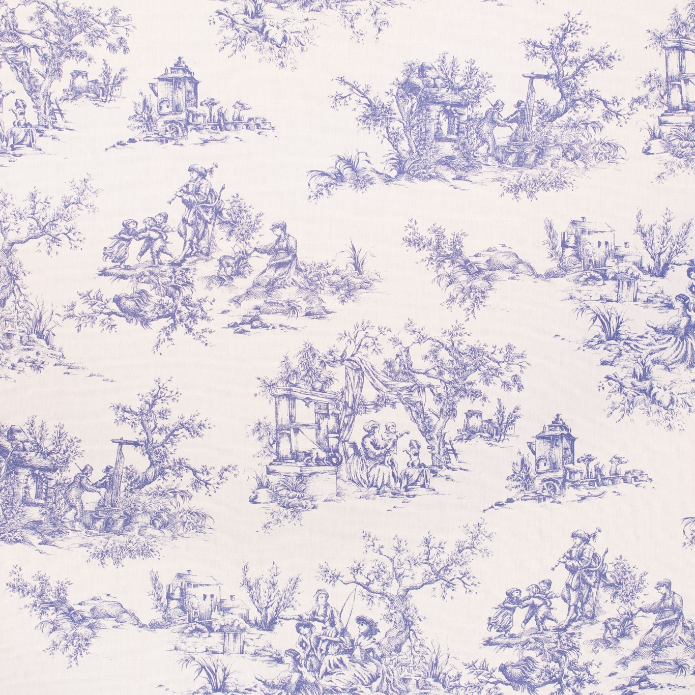 Image of Gordon Smith Toile Lavender Fabric 1.8m Remnant