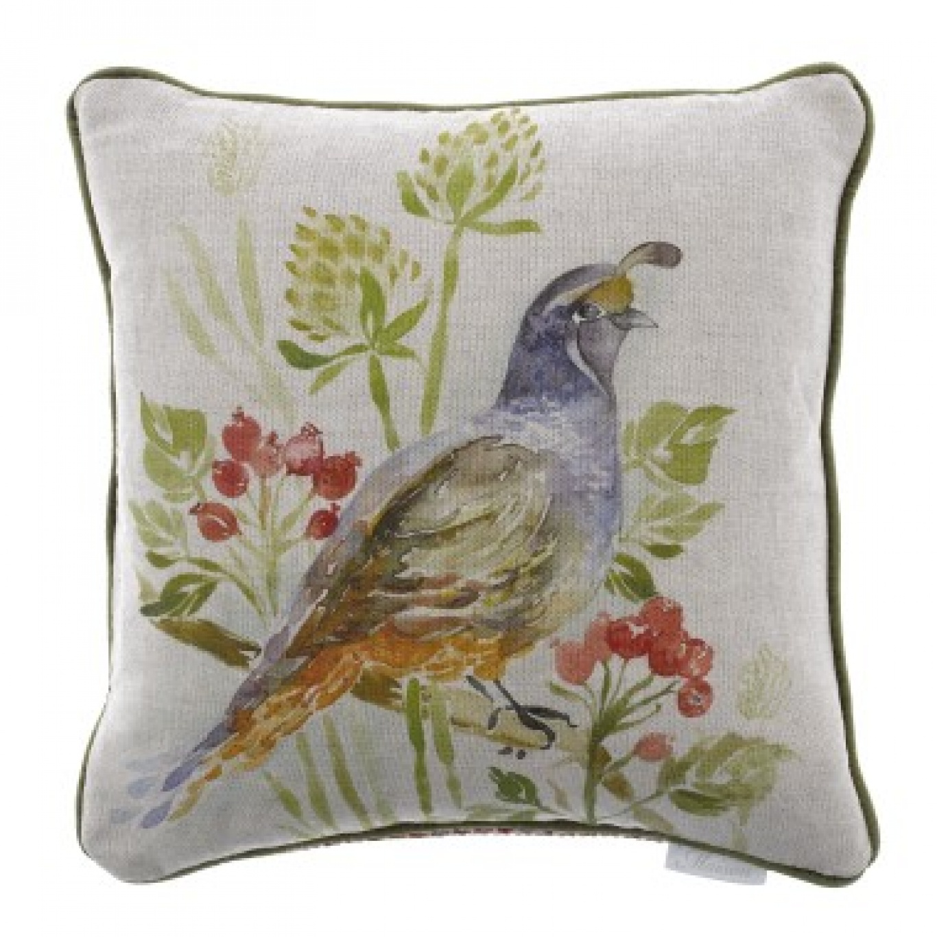 Image of Voyage Quail Winter Cushion