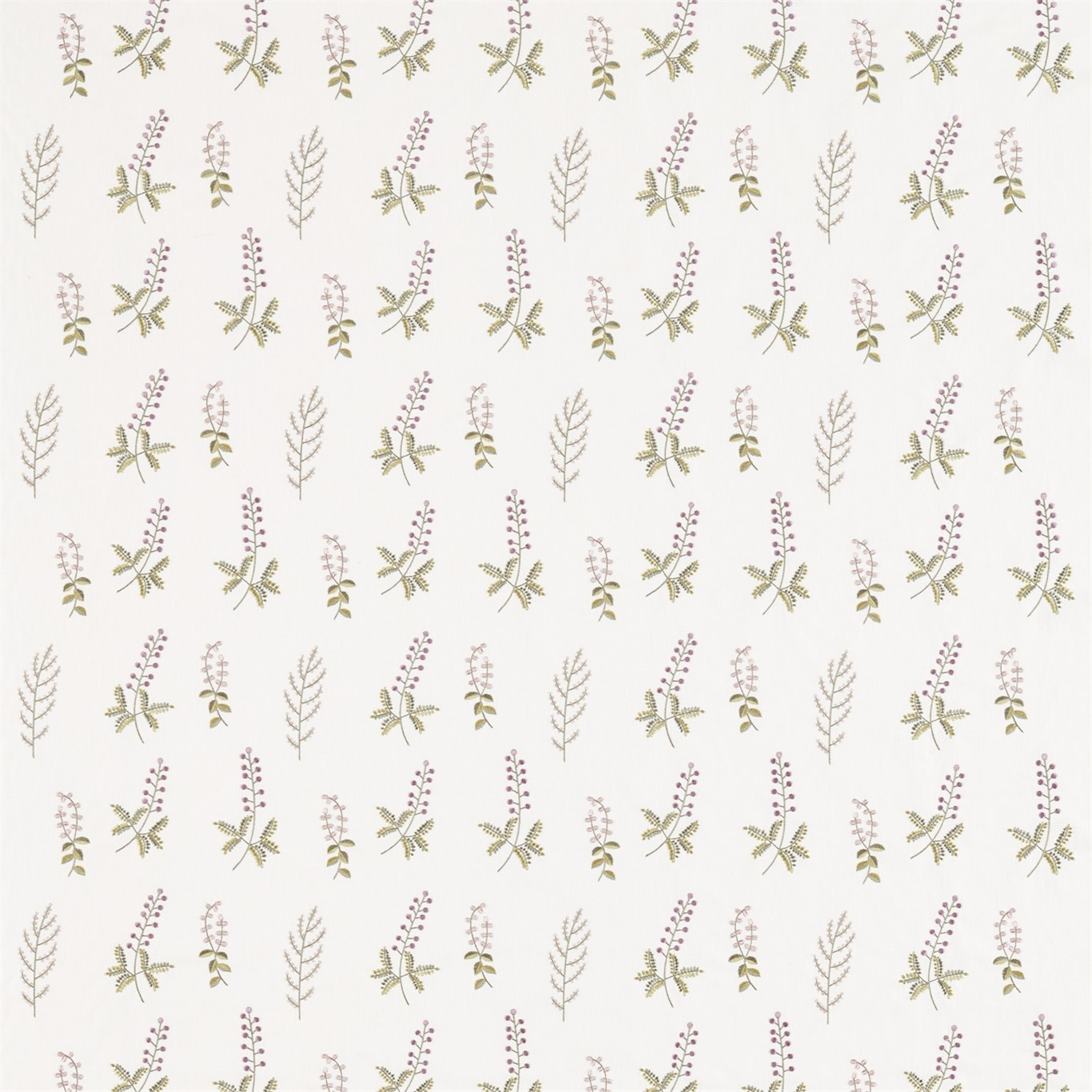 Image of Sanderson Home Bilberry Celadon/Fig Fabric 236425