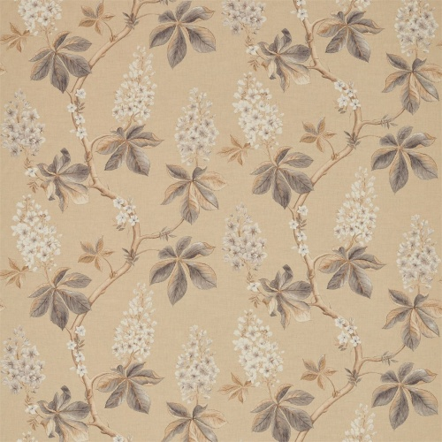 Sanderson Chestnut Tree Wheat/Pebble Fabric 225514