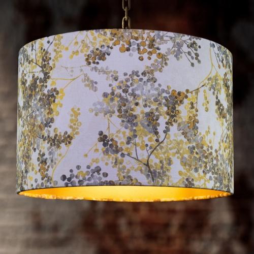 Fibre Naturelle Camille Ochre Curtain Fabric GICA/04
